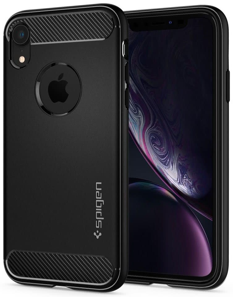 SPIGEN - iPhone XR Case Rugged Armor, Matte Black (064CS24871)