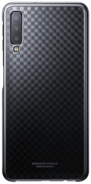 Samsung Gradation Cover A7 (2018), Black (EF-AA750CBEGWW)