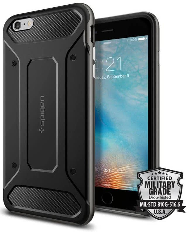 SPIGEN - Iphone 6+/6s+ -  Neo Hybrid Carbon / gunmental (SGP11666)