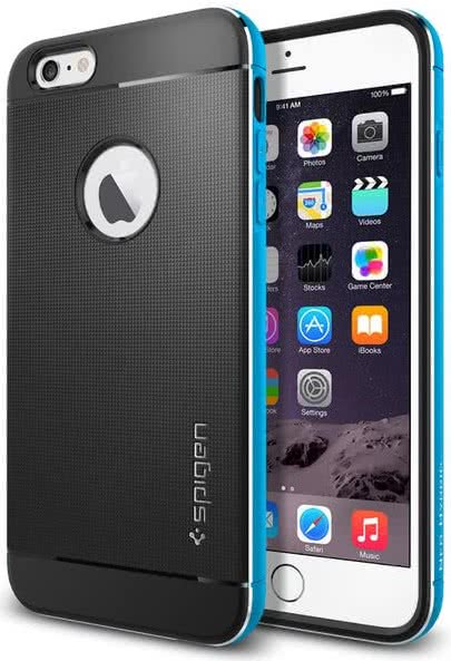 SPIGEN -  IPhone 6/6s - Neo Hybrid Metal / metal blue (SGP11039)