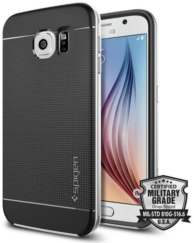 SPIGEN - Samsung Galaxy S6 - Neo Hybrid  / Satin silver (SGP11320)