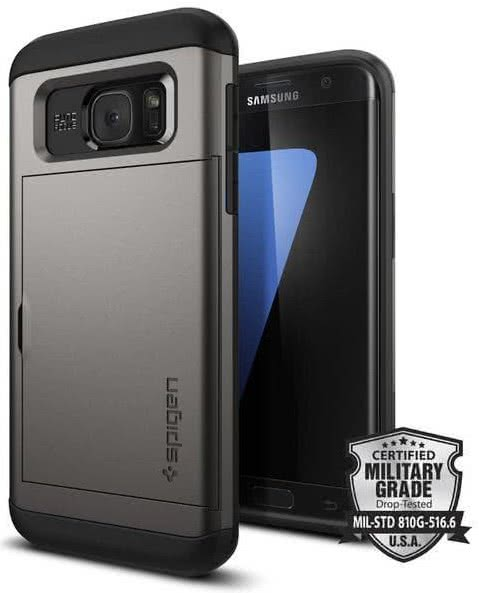 SPIGEN Samsung Galaxy S7 Edge Case Slim Armor CS BLack (556CS20255)