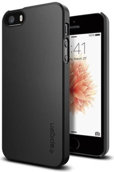 SPIGEN iPhone SE Case Thin Fit Black (041CS20168)