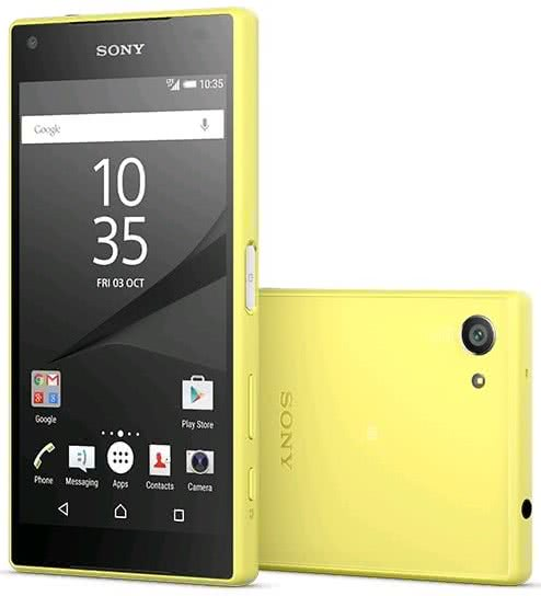 Sony Xperia Z5 Compact, yellow