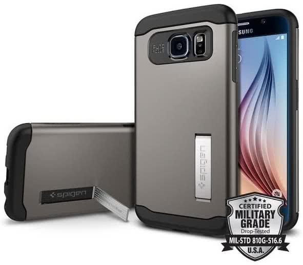 SPIGEN - Slim Armor, Samsung Galaxy S6, gunmetal (SGP11330)