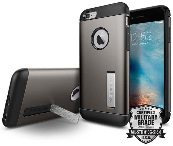 SPIGEN - Slim Armor, iPhone 6/6s, gunmetal (SGP11605)