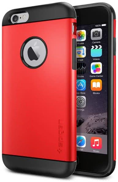 SPIGEN - Slim Armor, iPhone 6/6s, electric red (SGP10956)