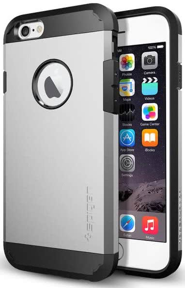 SPIGEN - Tough Armor, iPhone 6/6s, satin silver  (SGP10971)