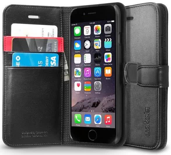 SPIGEN - Wallet S, iPhone 6/6s, black  (SGP10972)