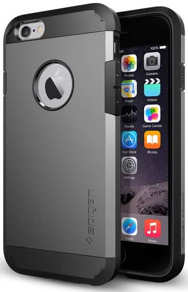 SPIGEN - Tough Armor, iPhone 6/6s, Smooth Black  (SGP10968)