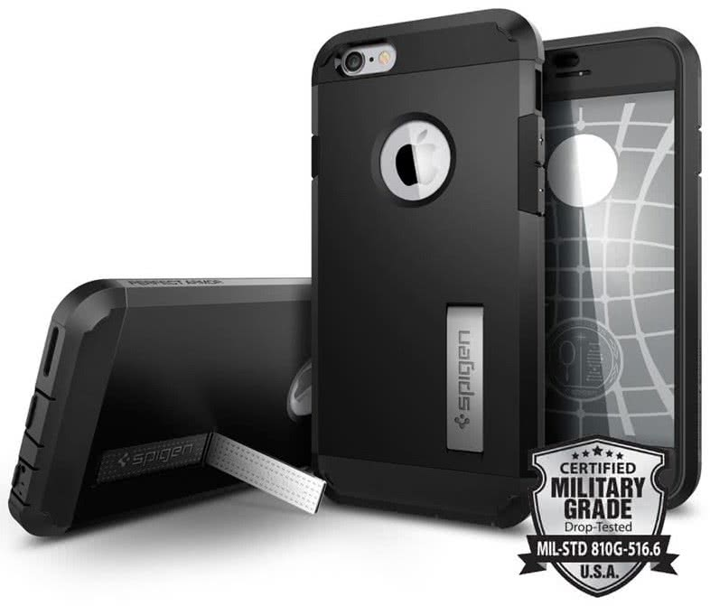 SPIGEN  Perfect Armor Apple iPhone 6 / 6S,  Black  (SGP11615 )