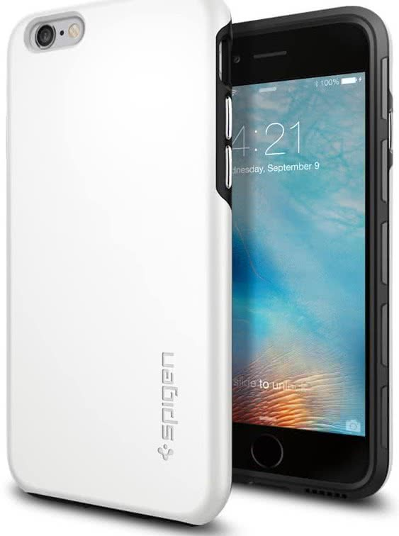 SPIGEN - Spigen Thin Fit Hybrid, iPhone 6/6s, biely(SGP11731)