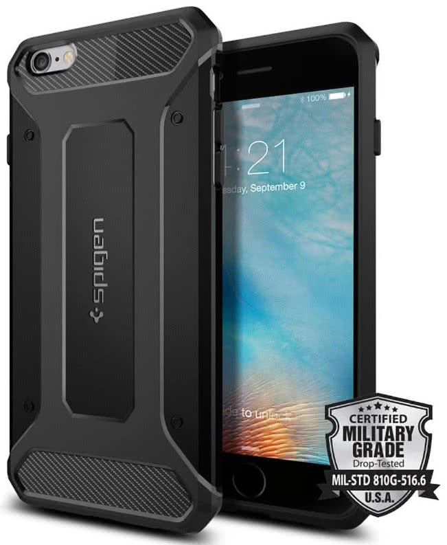 SPIGEN  Ultra Rugged Armor iPhone 6/6s plus, black (SGP11643)