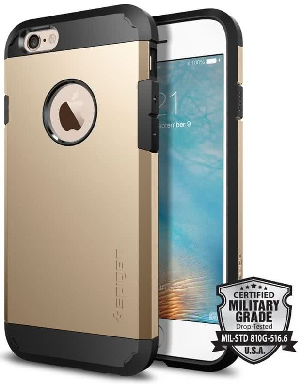 SPIGEN Tough Armor Apple iPhone 6 / 6S, Champagne Gold  (SGP11613)