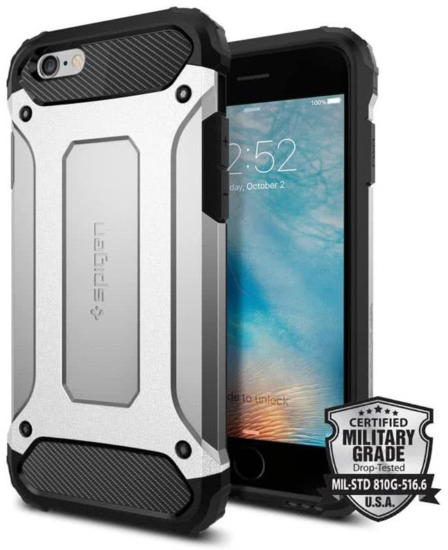 SPIGEN Tough Armor Tech Apple iPhone 6 / 6S, satin silver(SGP11744)