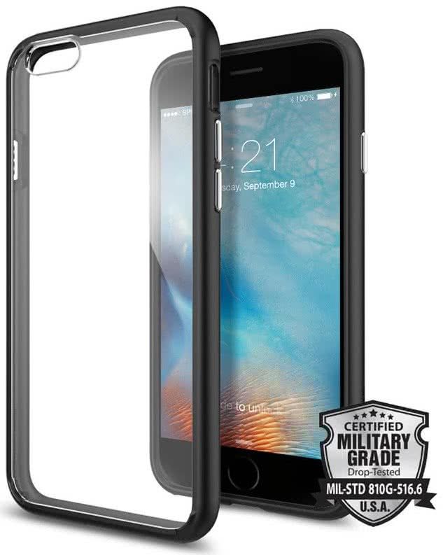 SPIGEN - Ultra Hybrid, iPhone 6/6s, black (SGP11600)