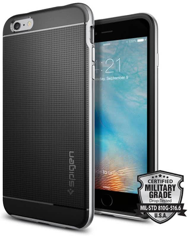 SPIGEN -  IPhone 6/6s plus -  Neo Hybrid  / Satin Silver  (SGP11665)