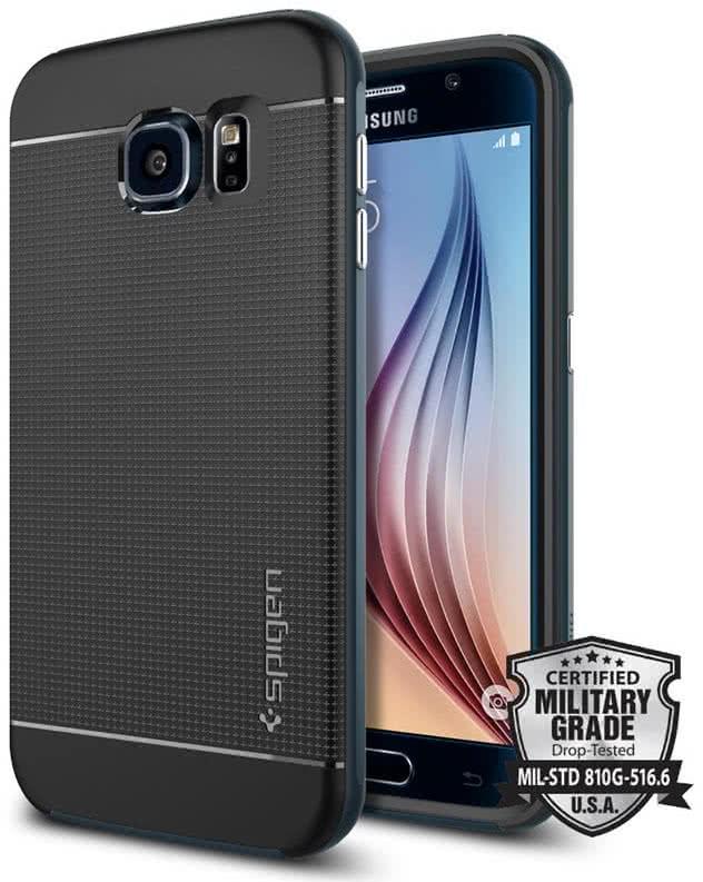 SPIGEN -  Samsung Galaxy S6 -  Neo Hybrid  / Metal Slate  (SGP11319)