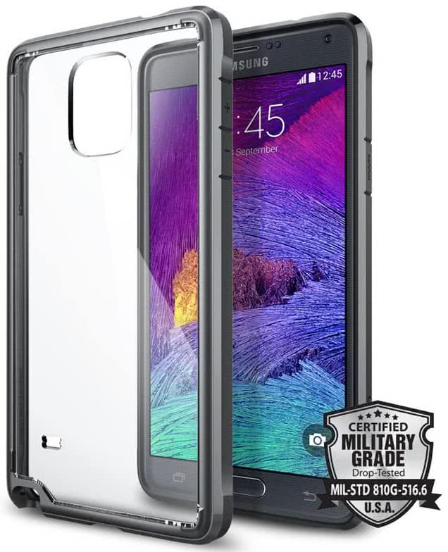SPIGEN - Samsung Galaxy Note 4 - Ultra Hybrid, Metal Slate (SGP11114)