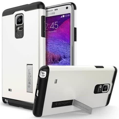 SPIGEN - Samsung Galaxy Note 4 -  Slim Armor, Shimmery White (SGP11128)