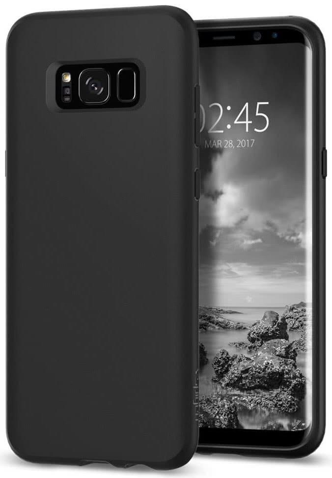 SPIGEN - Samsung Galaxy S8 Case Liquid Crystal Matte Black (565CS21613)