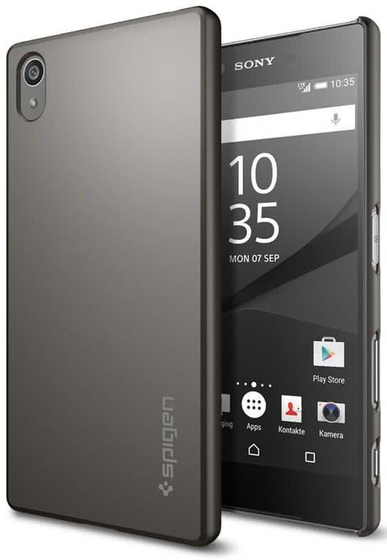 SPIGEN Sony Xperia Z5 Case Thin Fit, Black (SGP11804)