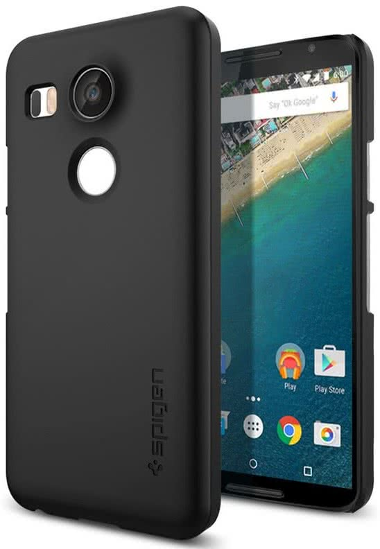 SPIGEN Nexus 5X Case Thin Fit, Black (SGP11756)