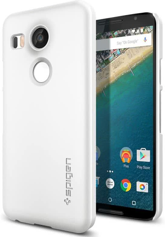 SPIGEN Nexus 5X Case Thin Fit, White (SGP11758)
