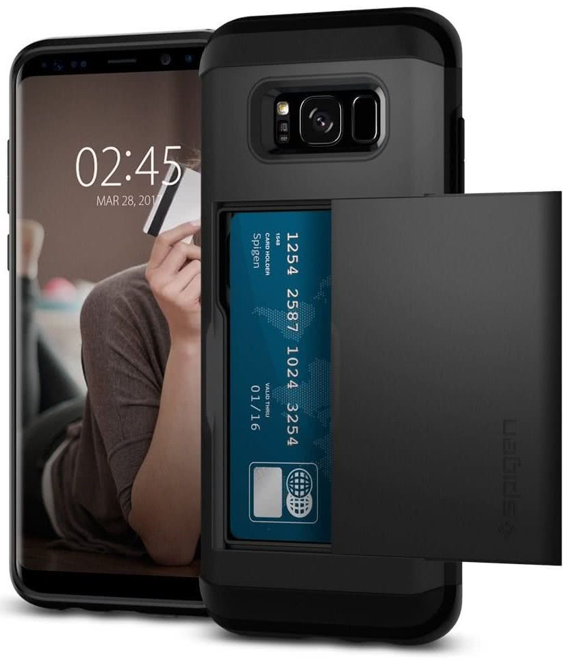 SPIGEN - Samsung Galaxy S8 Plus Case Slim Armor CS Black (571CS21672)
