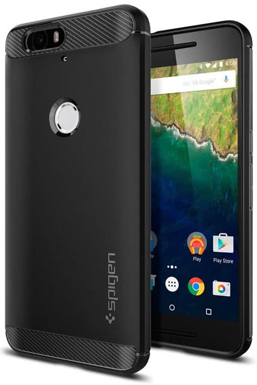 SPIGEN Nexus 6P Case Rugged Armor, Black (SGP11797)