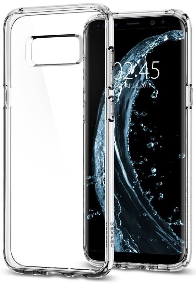 SPIGEN - Samsung Galaxy S8 Case Ultra Hybrid Crystal Clear (565CS21631)