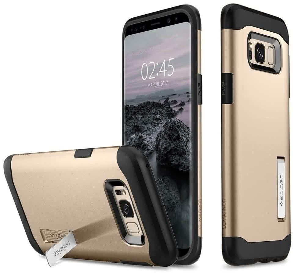 SPIGEN - Samsung Galaxy S8 Plus Case Slim Armor Maple Gold (571CS21123)