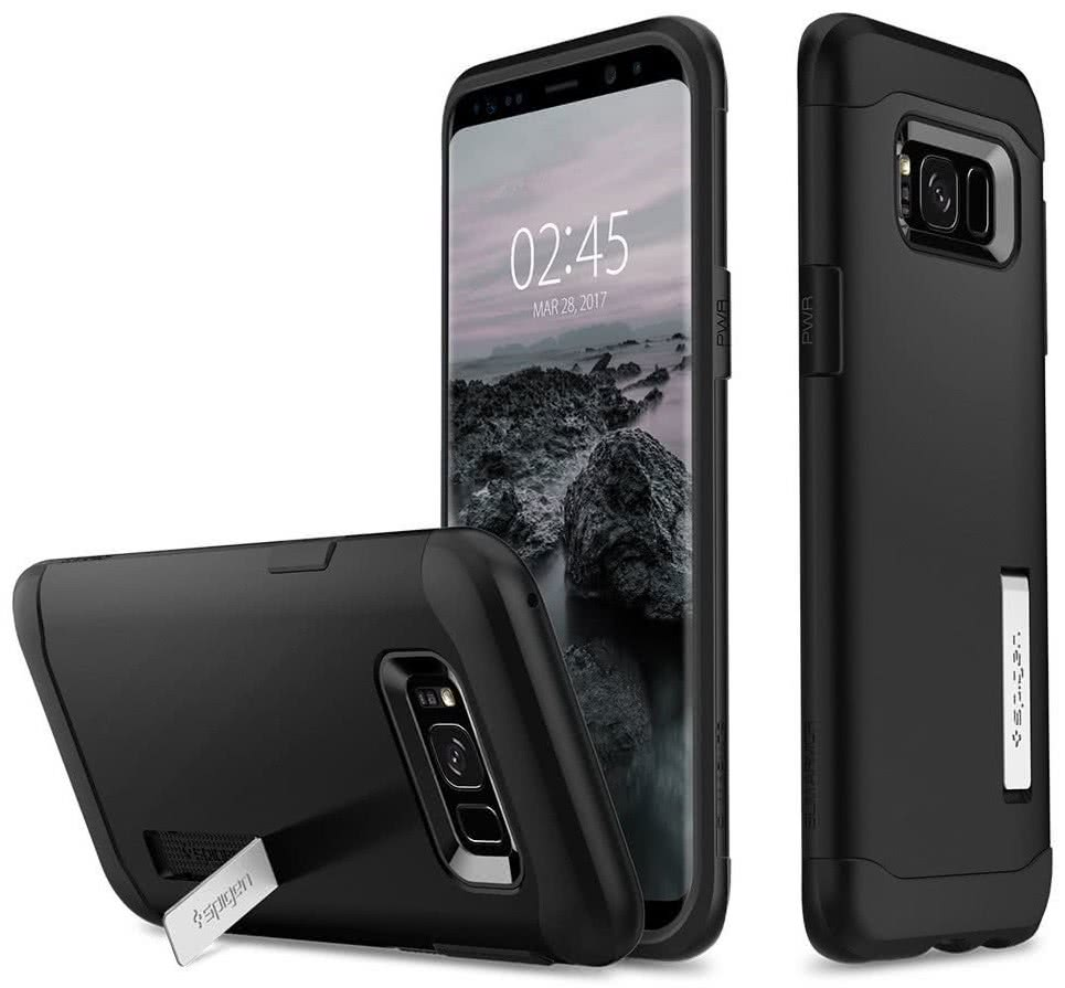 SPIGEN - Samsung Galaxy S8 Case Slim Armor Black (565CS20831)