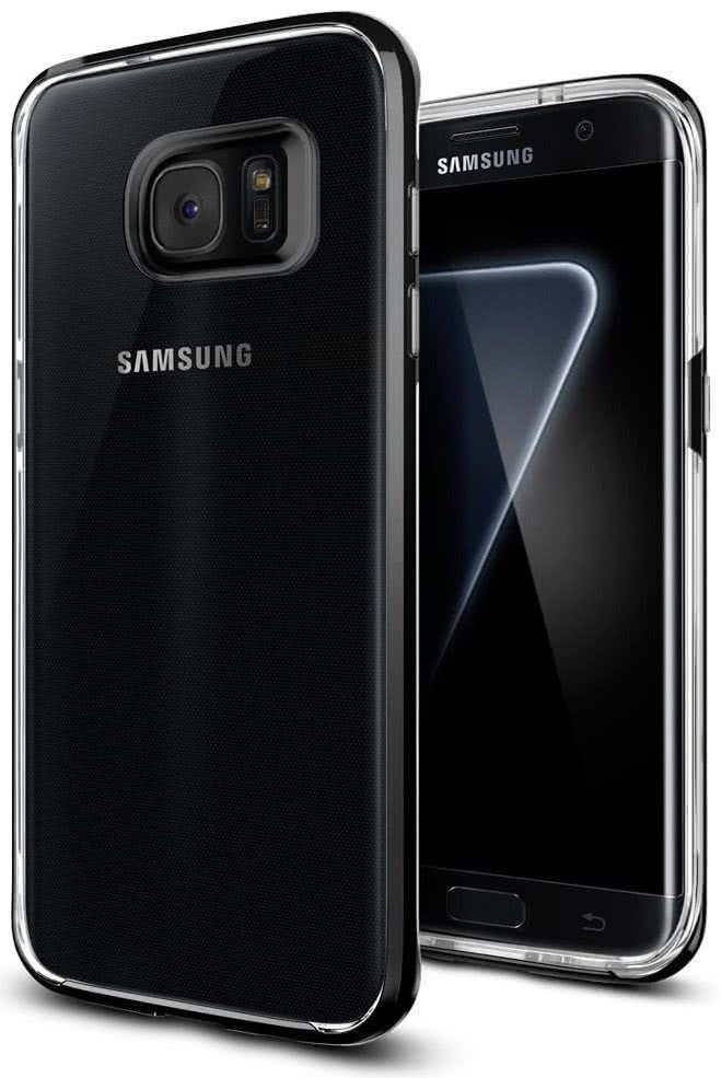 SPIGEN Galaxy S7 Edge Case Neo Hybrid Crystal Black Pearl (556CS21155)