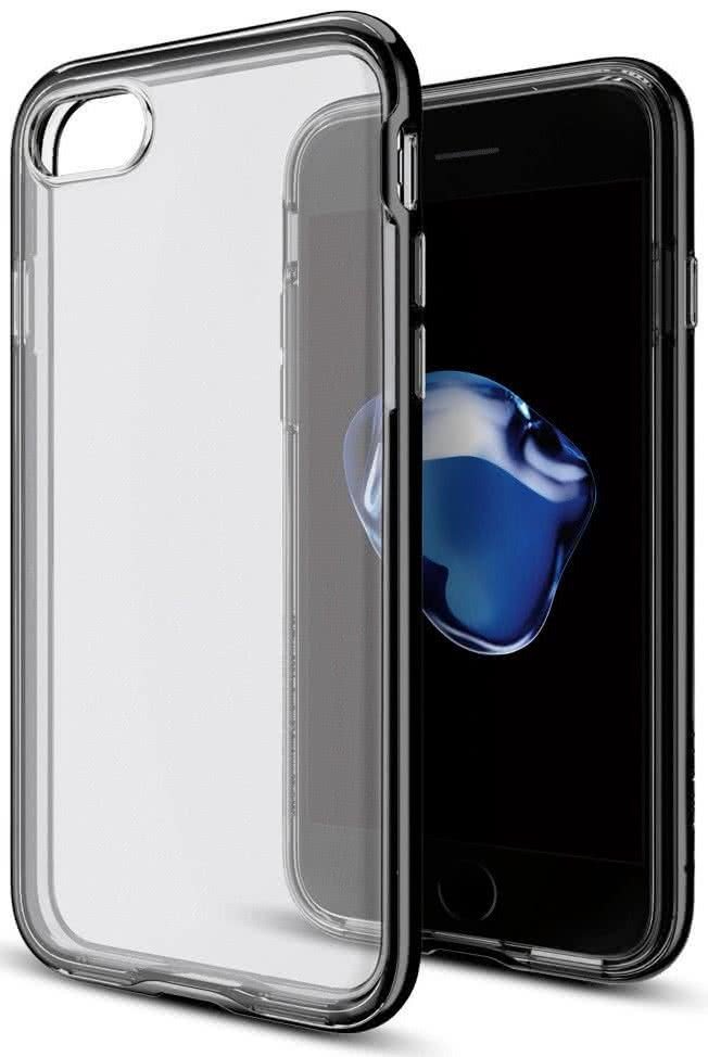 SPIGEN - iPhone 7/8 Case Neo Hybrid Crystal Jet Black (042CS20838)
