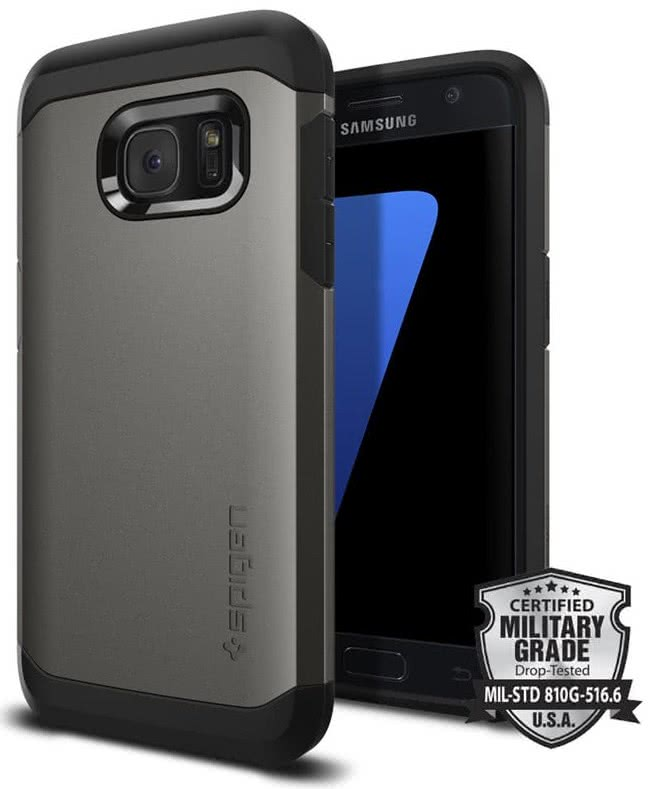 SPIGEN Galaxy S7 Case Tough Armor Gunmetal (555CS20018)