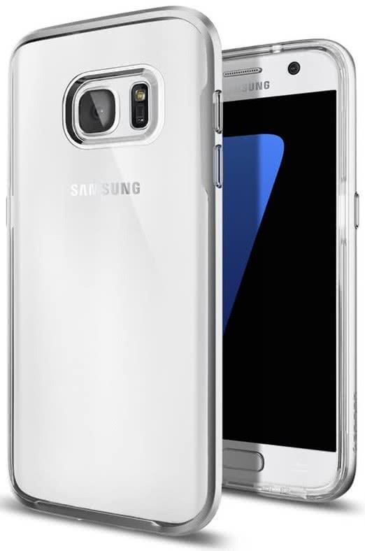 SPIGEN Galaxy S7 Case Neo Hybrid Crystal Satin Silver (555CS20021)