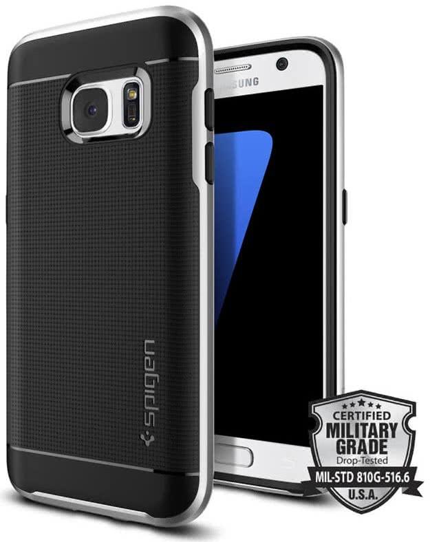 SPIGEN Galaxy S7 Case Neo Hybrid Satin Silver (555CS20142)