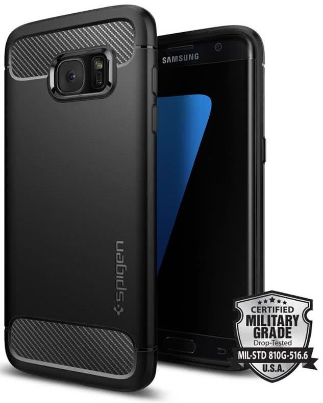 SPIGEN Galaxy S7 Edge Case Rugged Armor (556CS20033)