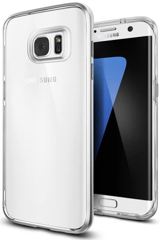SPIGEN Galaxy S7 Edge Case Neo Hybrid Crystal Satin Silver (556CS20046)