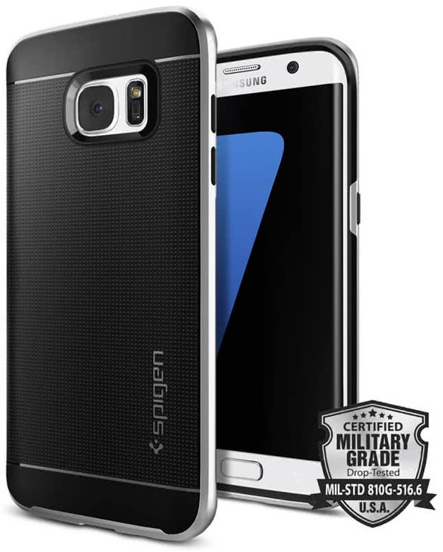 SPIGEN Galaxy S7 Edge Case Neo Hybrid Satin Silver (556CS20144)