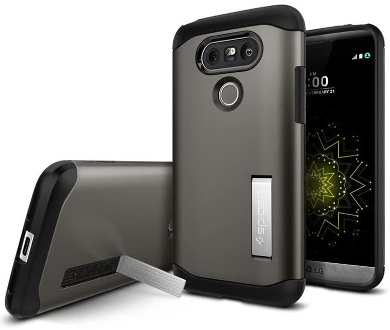 SPIGEN LG G5 Case Slim Armor Gunmetal (A18CS20130)