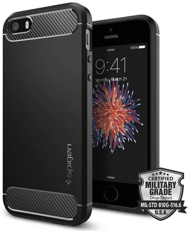SPIGEN iPhone SE Case Rugged Armor (041CS20167)