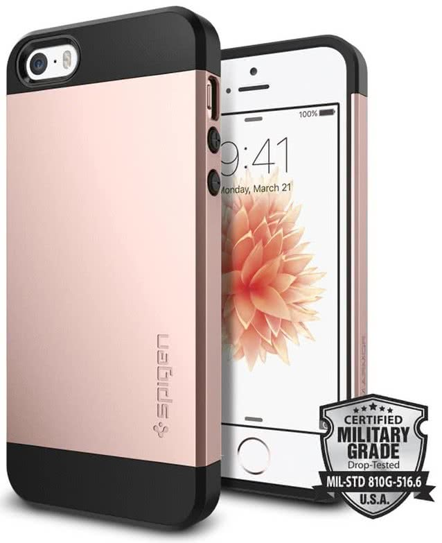 SPIGEN iPhone SE Case Slim Armor Rose Gold (041CS20176)