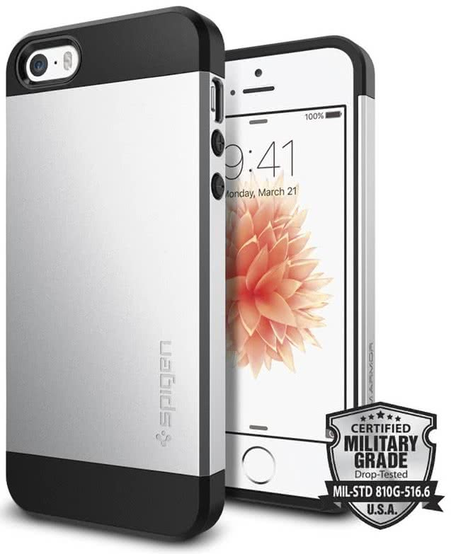 SPIGEN iPhone SE Case Slim Armor Silver (041CS20249)