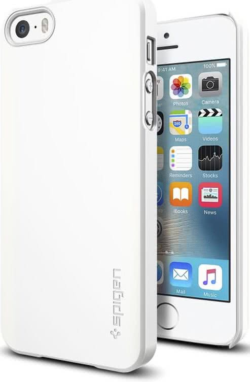 SPIGEN iPhone SE Case Thin Fit Shimmery White (041CS20169)