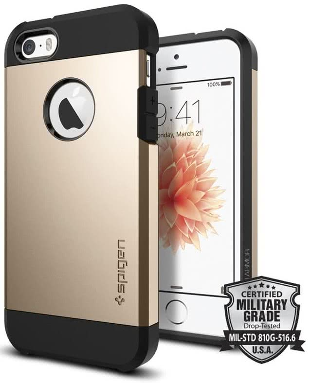 SPIGEN iPhone SE Case Tough Armor Champagne Gold (041CS20252)