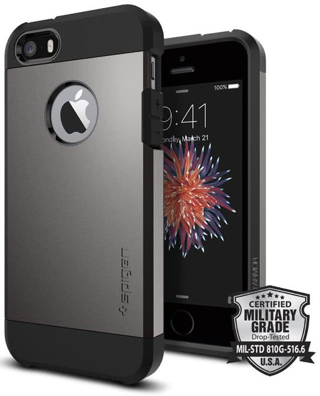 SPIGEN iPhone SE Case Tough Armor Gunmetal (041CS20188)