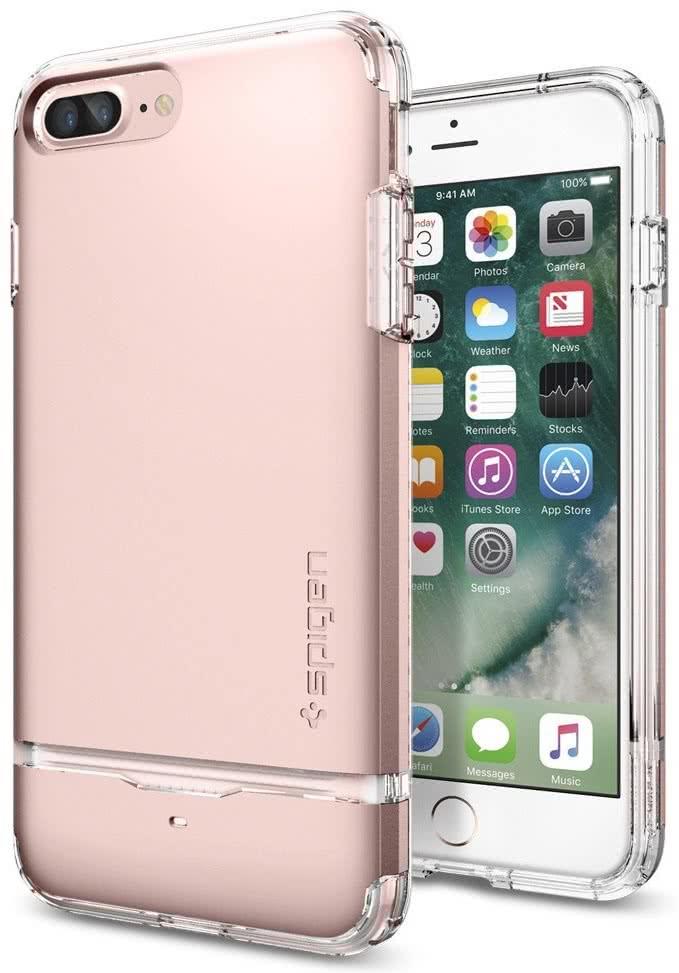 SPIGEN - iPhone 7/8 Plus Case Flip Armor Rose Gold (043CS20821)