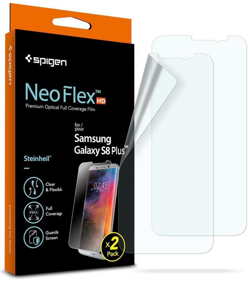 SPIGEN - Samsung Galaxy S8+ Screen Protector Neo Flex HD CASE FRIENDLY, 2 Pack (571FL21261)